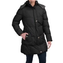 KC Collection Hooded Quilted Coat (For Women) in Black - Closeouts