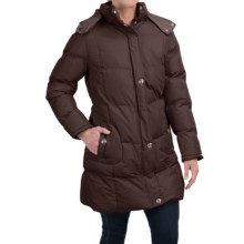 KC Collection Hooded Quilted Coat (For Women) in Chocolate - Closeouts