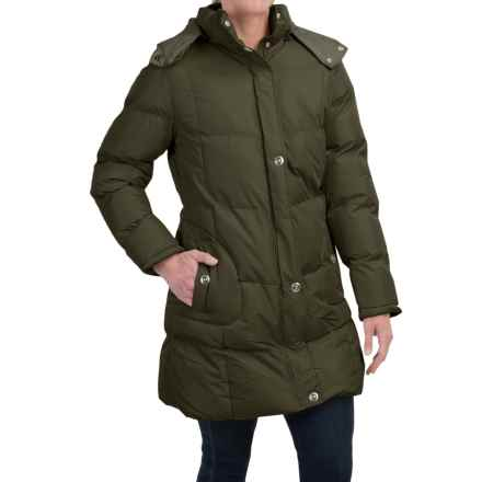 KC Collection Hooded Quilted Coat (For Women) in Dark Olive - Closeouts