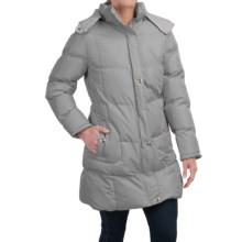 KC Collection Hooded Quilted Coat (For Women) in Silver - Closeouts