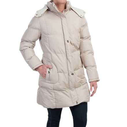 KC Collection Hooded Quilted Coat (For Women) in Wheat - Closeouts