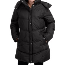 KC Collection Hooded Quilted Coat - Insulated (For Plus Size Women) in Black - Closeouts