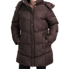 KC Collection Hooded Quilted Coat - Insulated (For Plus Size Women) in Chocolate - Closeouts