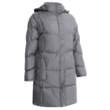 KC Collection Hooded Quilted Coat - Insulated (For Plus Size Women) in Grey - Closeouts