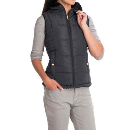 KC Collections Faux-Fur Reversible Vest (For Women) in Steel - Closeouts