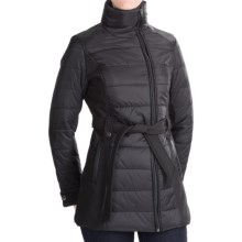 KC Collections Mixed Media Quilted Puffer Jacket - Insulated (For Women) in Black - Closeouts