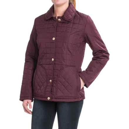 KC Collections Quilted Button-Front Barn Jacket - Insulated (For Women) in Mulberry - Closeouts