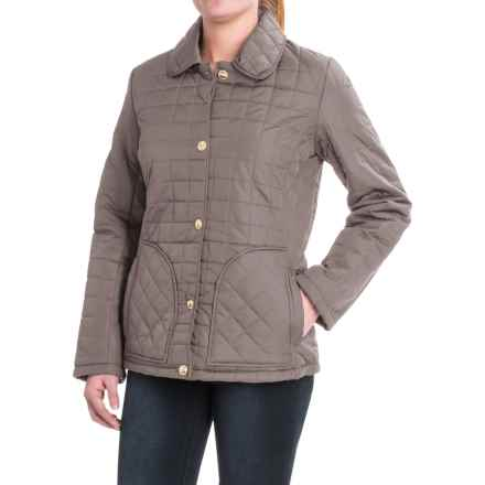 KC Collections Quilted Button-Front Barn Jacket - Insulated (For Women) in Oak - Closeouts