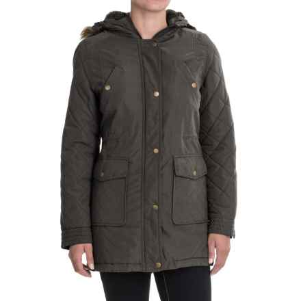 KC Collections Quilted Sleeves Jacket (For Women) in Charcoal - Closeouts