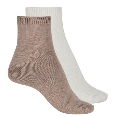 Keds Anklet Socks - 2-Pack, Ankle (For Women) in Egret Asst