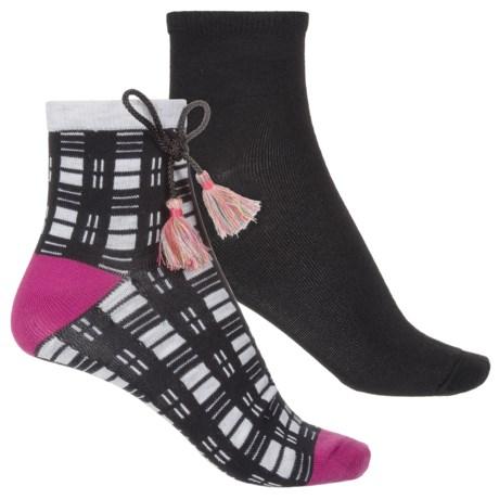 Keds Anklet Socks - 2-Pack, Ankle (For Women) in Grey Heather