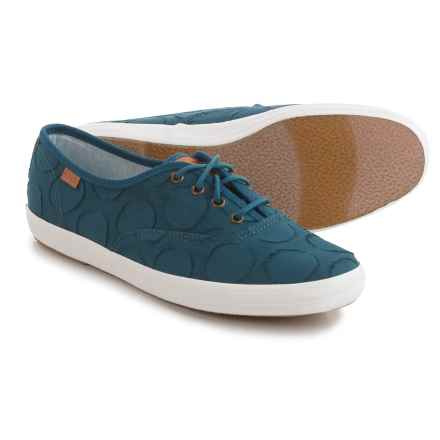 Keds Champion Circle Jacquard Sneakers (For Women) in Teal Blue - Closeouts