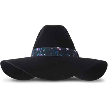 Keds Felt Floppy Hat - Wool (For Women) in Black - Closeouts