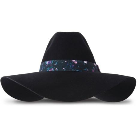Keds Felt Floppy Hat - Wool (For Women) in Black
