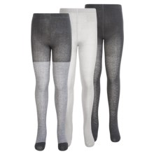 Keds Full-Footed Tights - 3-Pack (For Little and Big Girls) in Dark Grey/White/Grey - Closeouts