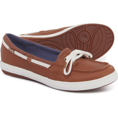 678e2aac Keds Glimmer Boat Shoes - Leather (For Women) in Cognac
