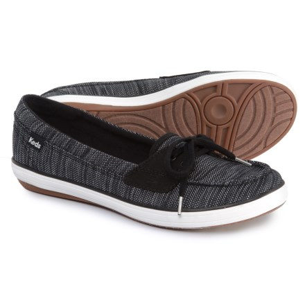 30f710cb2592 Keds Glimmer Heathered Nylon Boat Shoe (For Women) in Black - Closeouts
