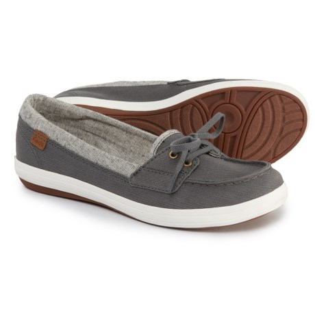 4bf69ad6a2c Keds Glimmer Heavy Twill Boat Shoes (For Women) in Dark Gray