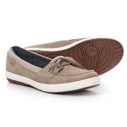 Keds Glimmer Suede Boat Shoes (For Women) in Taupe - Closeouts