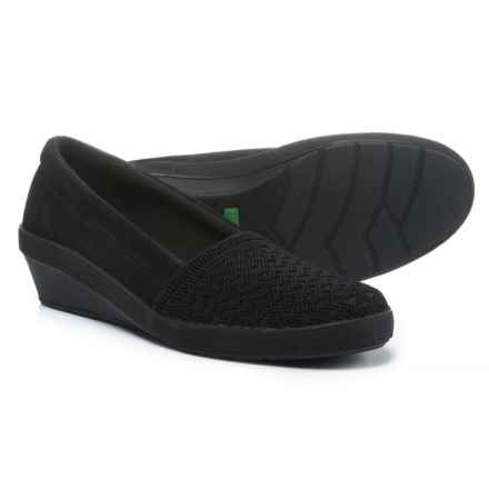 Keds Grasshoppers Corin Wedge Shoes (For Women) in Black Suede - Closeouts