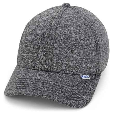 Keds Heathered Baseball Cap (For Women) in Black - Closeouts