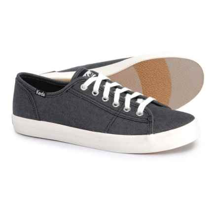 Keds Kickstart Shimmer Chambray Sneakers (For Women) in Black - Closeouts