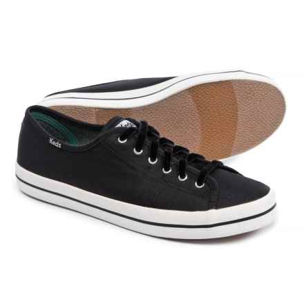 Keds Kickstart Slub Satin Sneakers (For Women) in Black - Closeouts
