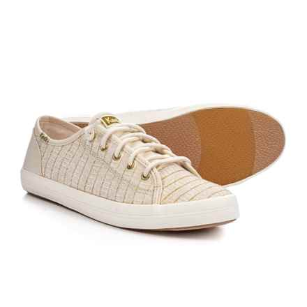 Keds Kickstart Sneakers (For Girls) in Ivory Eyelet - Closeouts