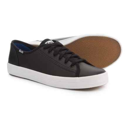 Keds Kickstart Sneakers - Leather (For Women) in Black - Closeouts