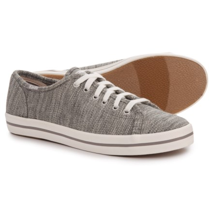 debbe413eed Keds Kickstart Twill Stripe Jersey Sneakers (For Women) in Light Gray -  Closeouts