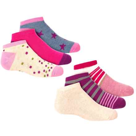 Keds Low-Show Socks - 6-Pack, Below the Ankle (For Girls) in Oatmeal Heather - Closeouts