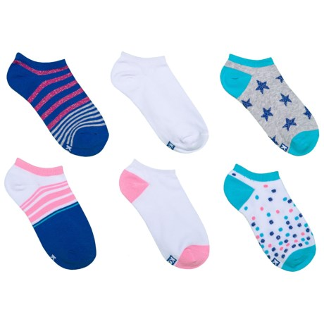 Keds Low-Show Socks - 6-Pack, Below the Ankle (For Girls) in White Assorted