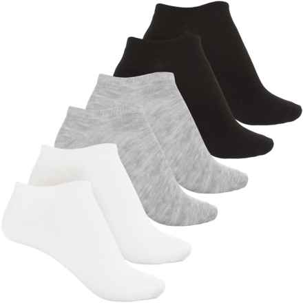 Keds Low-Show Socks - 6-Pack, Below the Ankle (For Women) in Black/Grey Heather/White - Closeouts