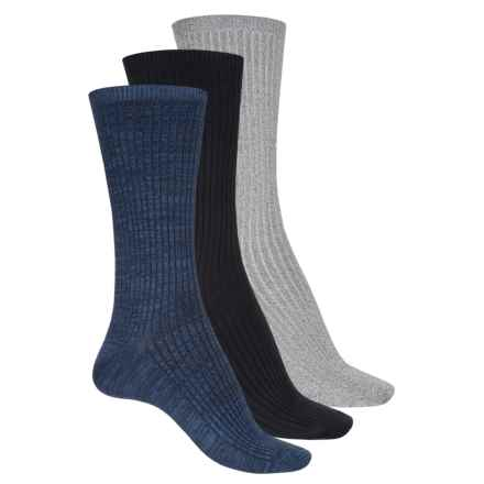 Keds Supersoft Socks - 3-Pack, Crew (For Women) in Peacoat Asst - Closeouts