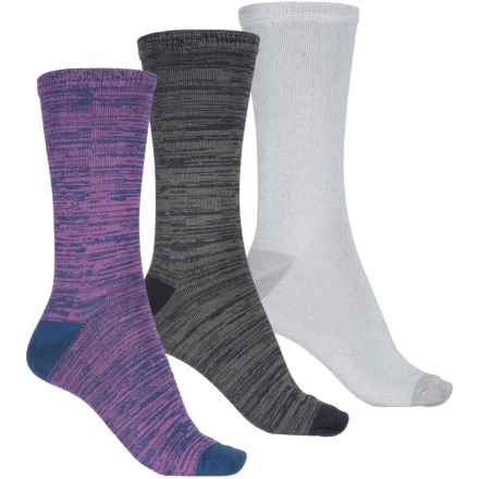 Keds Supersoft Socks - 3-Pack, Crew (For Women) in True Navy Asst - Closeouts