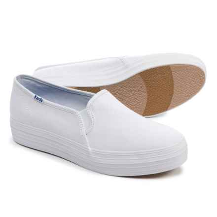 Keds Triple Decker Canvas Shoes - Slip-Ons (For Women) in White - Closeouts