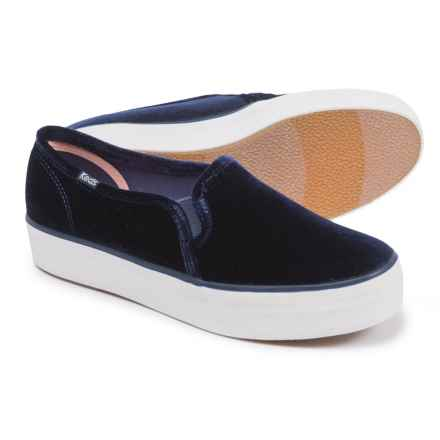 Keds Triple Decker Velvet Sneakers (For Women) in Navy Velvet - Closeouts