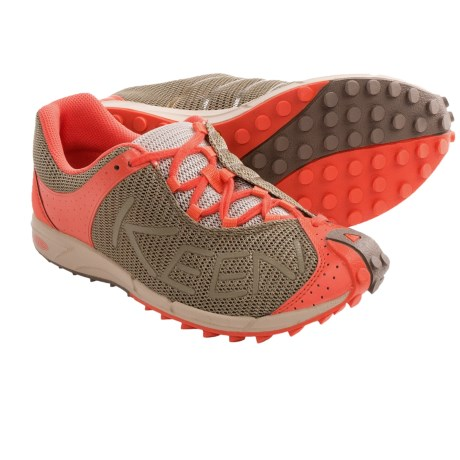 Keen A86 TR Trail Running Shoes (For Women) in Brindle/Hot Coral
