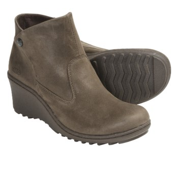 Keen Akita Ankle Boots - Leather (For Women) in Slate Black