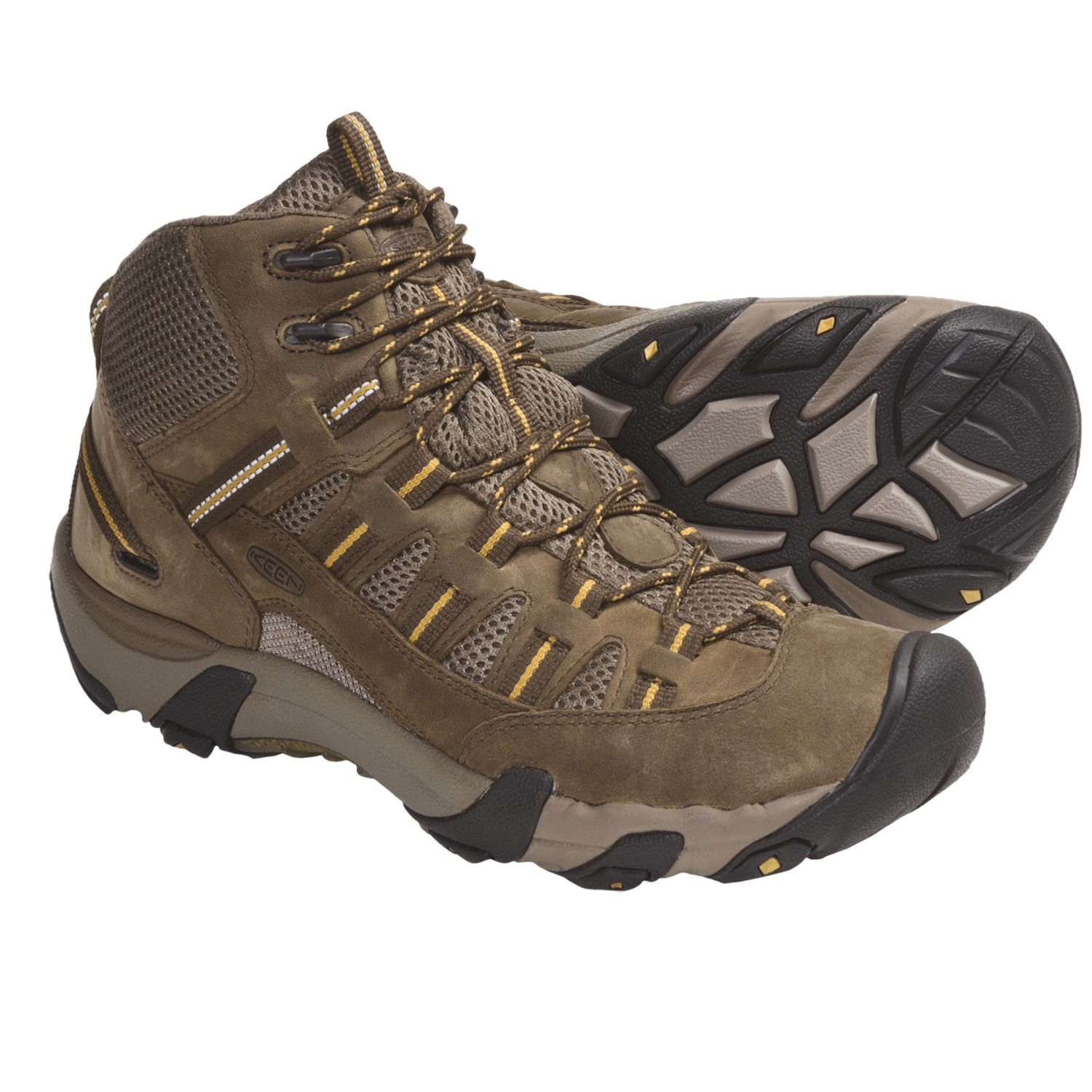 Keen Alamosa Mid Hiking Boots - Leather (For Men) in Shitake/Tawny