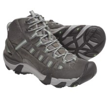 Keen Alamosa Mid Hiking Boots - Leather (For Women) in Gargoyle/Jade Green - Closeouts