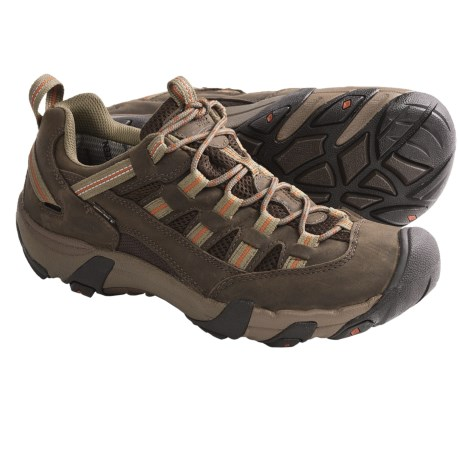 Keen Alamosa WP Trail Shoes - Waterproof, Nubuck (For Men) in Chocolate Chip/Rust