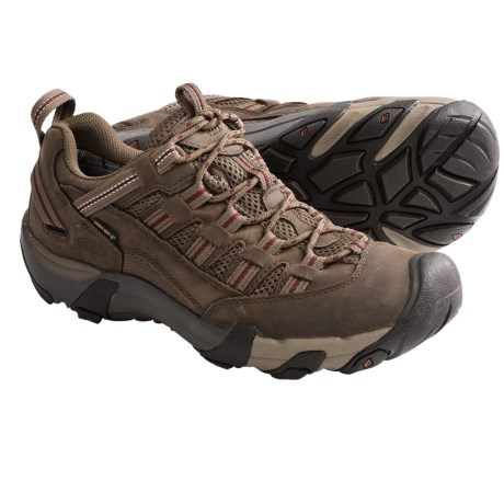 Keen Alamosa WP Trail Shoes - Waterproof, Nubuck (For Men) in Shitake/Madder Brown