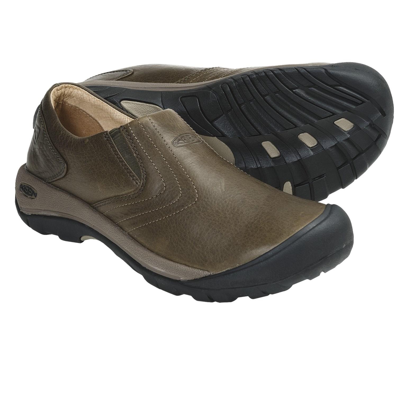 Keen Alki Slip-On Shoes - Leather (For Men) in Black Olive