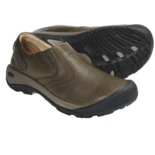 Keen Alki Slip-On Shoes - Leather (For Men) in Black Olive - Closeouts