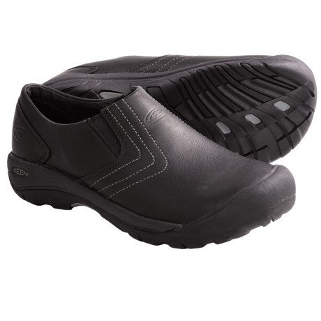 Keen Alki Slip-On Shoes - Leather (For Men) in Black