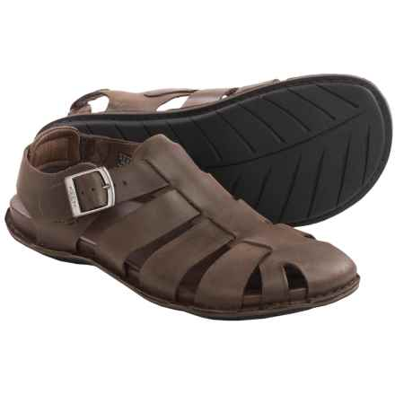 Keen Alman Fisherman Sandals - Leather (For Men) in Chestnut - Closeouts