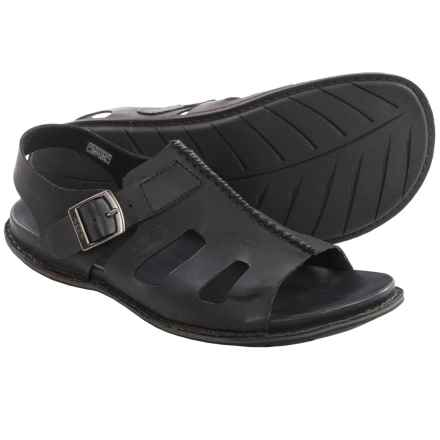 Keen Alman Leather Sandals (For Men) in Black - Closeouts