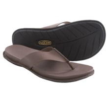 Keen Alman Thong Sandals - Leather (For Men) in Iron - Closeouts