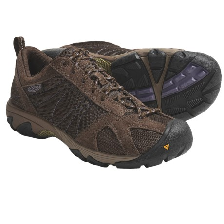 Keen Ambler Mesh Trail Shoes (For Women) in Slate Black/Purple Sage